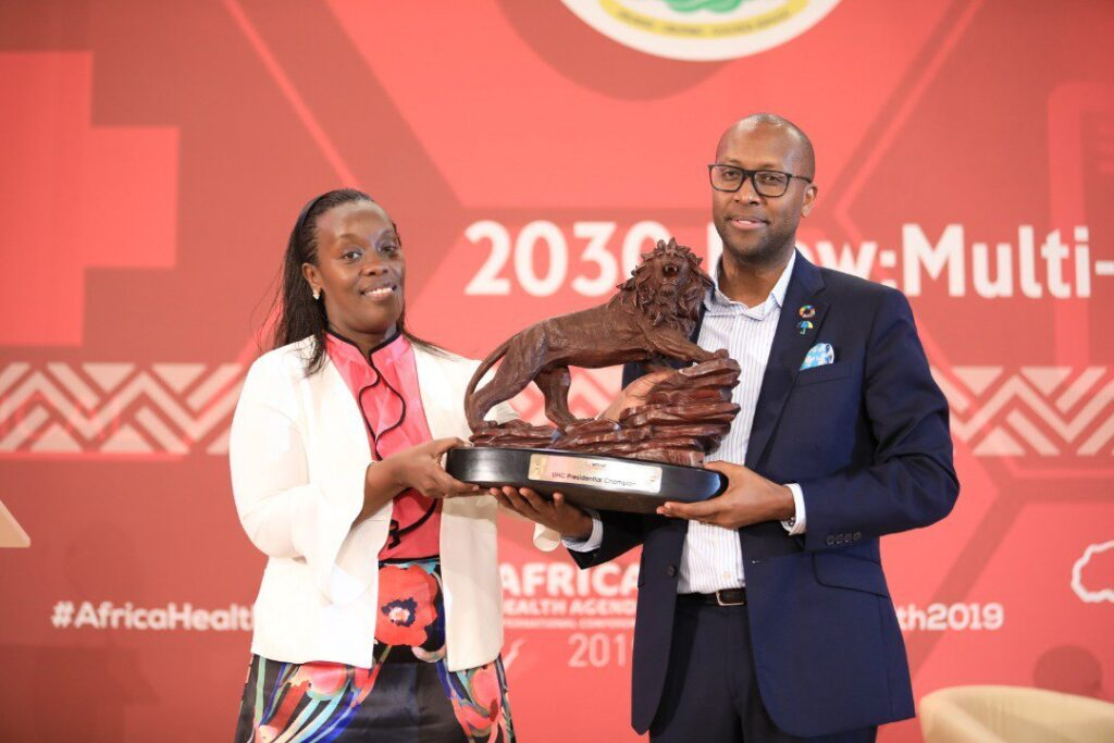 Kagame Awarded Universal Health Coverage Award By Amref
