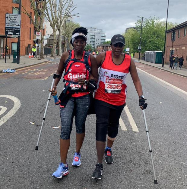 Bracknell News: Mwangala with her sister Notulu by her side