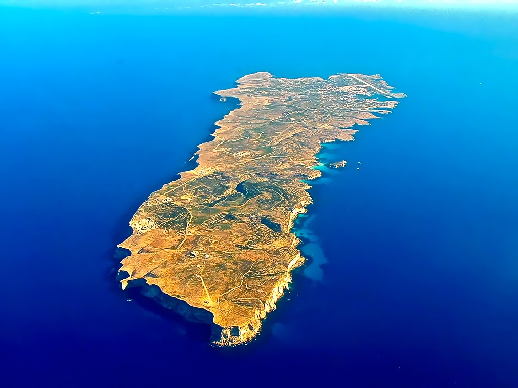 Aerial view of Lampedusa