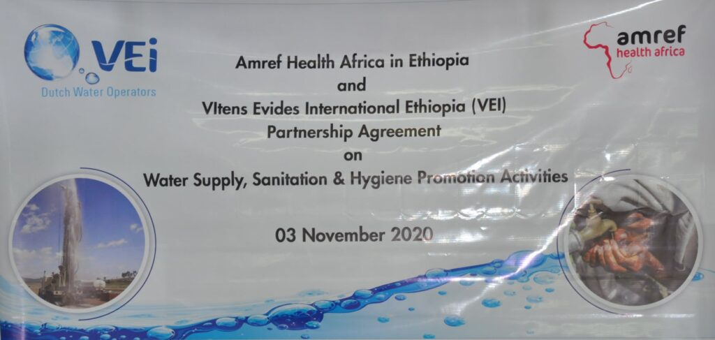 Amref, VEI to promote water supply, sanitation & hygiene services