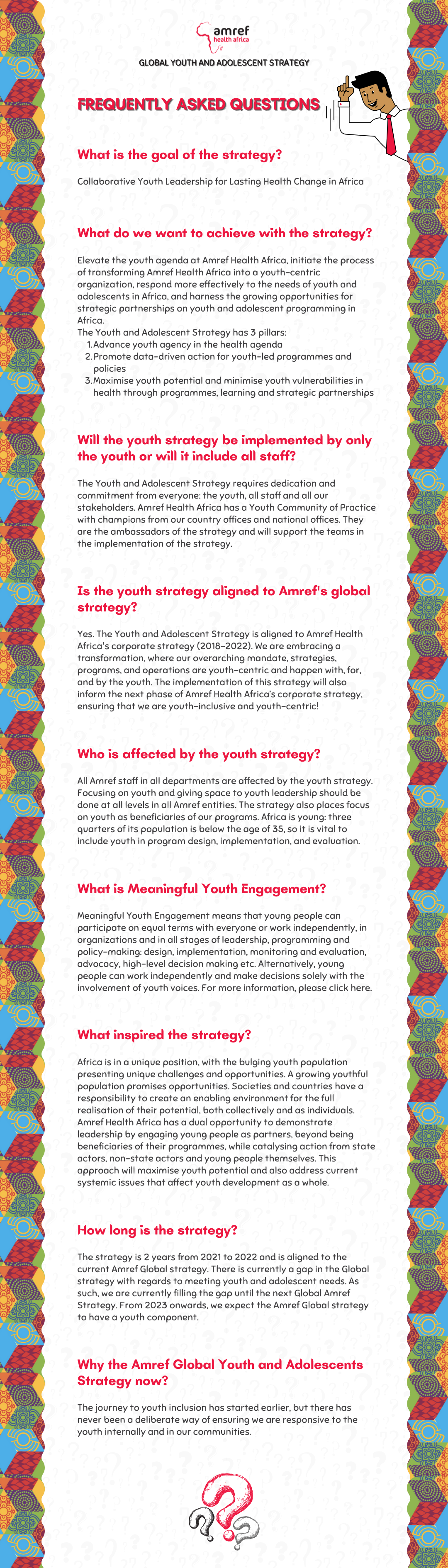 Let us launch the first ever Amref Global Youth and Adolescent Strategy (2021-2022) TOGETHER.