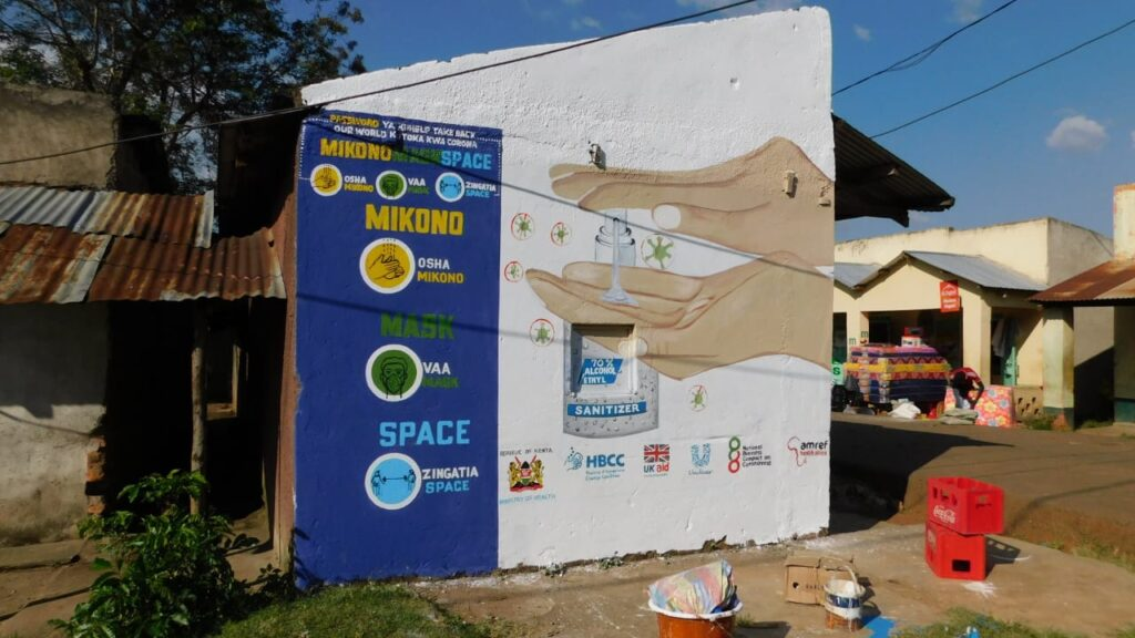 Mural Painted in market in Siaya County, Bondo
