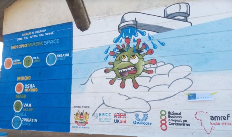 Mural painted in Kakamega county in Lurambi Market Center